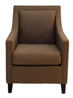 Light Brown Upholstered Arm Chair