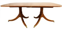 Inlaid Banded Yew Wood Dining Table