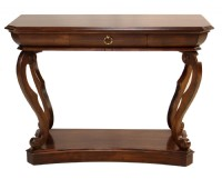 Curved Leg Console Table