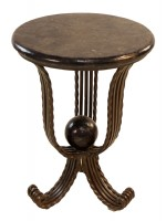 Metal Base Table with Moonlight Pearl Top
