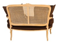 Bergere Styled Caned Bench