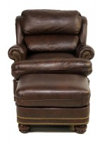 Austin Tilt Back Leather Chair & Ottoman