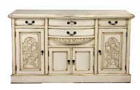 Distressed Cream Sideboard
